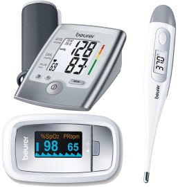 Beurer Medical Essential Kit (Blood Pressure Monitor BM35 + Thermometer FT09 + Pulse Oximeter PO30 )