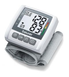Beurer BC 30 Fully automatic blood pressure and pulse measurement wrist blood pressure monitor with Cuff size 13.5-19.5, 5 years warranty