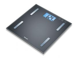 Beurer BF 180 diagnostic bathroom scale measures weight, body fat, body water, muscle percentage, bone mass and BMR calorie display With BMI calculation, Weight capacity 180 kg, 5 years warranty