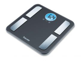 Beurer BF195 diagnostic bathroom scale Perfect for the whole family measures Weight, body fat, body water, muscle percentage, bone mass, AMR calorie display, Weight capacity 180 kg, 5 years warranty