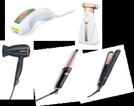 Beurer Women Gifting Kit (Hair Dryer HC25+ Hair Straightener HS40+ Curling Tongs HT53+ Lady Shaver HL35 + Hair Remover IPL5500)