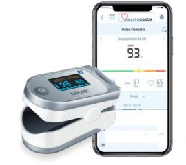 Beurer PO60 Pulse Oximeter with Bluetooth and Health Manager App, 5 Years Warranty