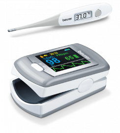 Beurer Medical Combo - Pulse Oximeter PO80 + Thermometer FT13   5 Years Warranty