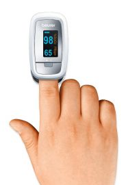 Beurer PO30 Pulse Oximeter, Blood Oxygen Saturation & Heart Rate Monitor, 5 Years Warranty - Grey
