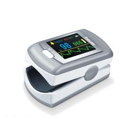 Beurer PO80 Fingertip Pulse Oximeter, Medical Device with 4 Colored Graphic Display Formats, Grey, Connect sync it with Your Computer via USB with German Technology & 5 Years Warranty